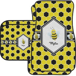 Honeycomb Car Floor Mats Set - 2 Front & 2 Back (Personalized)