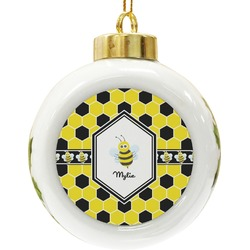 Honeycomb Ceramic Ball Ornament (Personalized)
