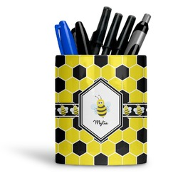 Honeycomb Ceramic Pen Holder