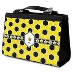 Honeycomb Classic Tote Purse w/ Leather Trim (Personalized)