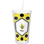 Honeycomb Double Wall Tumbler with Straw (Personalized)