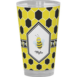 Honeycomb Drinking / Pint Glass (Personalized)