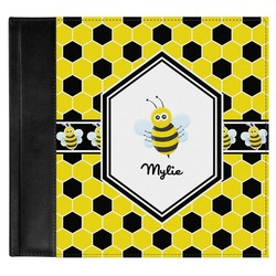 Honeycomb Genuine Leather Baby Memory Book (Personalized)
