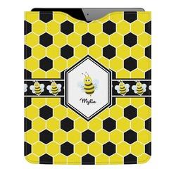 Honeycomb Genuine Leather iPad Sleeve (Personalized)