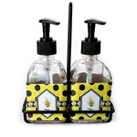 Honeycomb Soap & Lotion Dispenser Set (Glass) (Personalized)