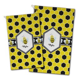 Honeycomb Golf Towel - Full Print w/ Name or Text