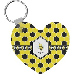 Honeycomb Heart Keychain (Personalized)