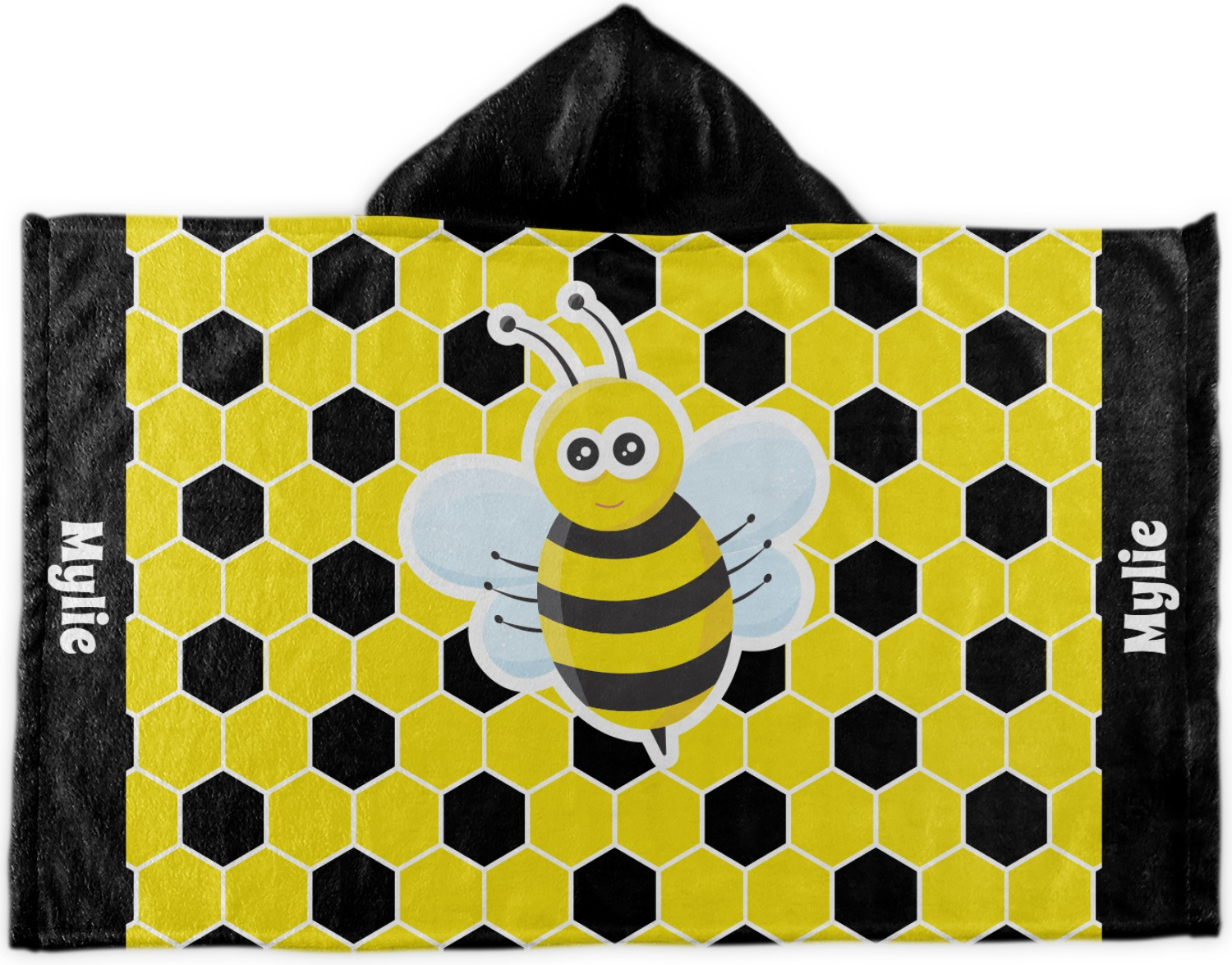 Honeycomb Kids Hooded Towel Personalized Youcustomizeit