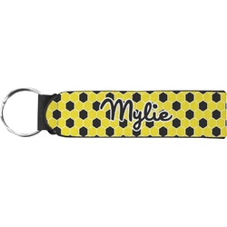 Honeycomb Neoprene Keychain Fob (Personalized)