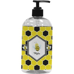 Honeycomb Plastic Soap / Lotion Dispenser (16 oz - Large) (Personalized)