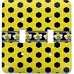 Honeycomb Light Switch Cover (2 Toggle Plate) (Personalized)