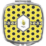 Honeycomb Compact Makeup Mirror (Personalized)