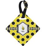 Honeycomb Diamond Luggage Tag (Personalized)
