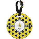 Honeycomb Round Luggage Tag (Personalized)