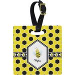 Honeycomb Square Luggage Tag (Personalized)