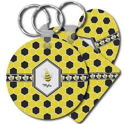Honeycomb Plastic Keychains (Personalized)