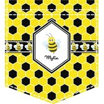 Honeycomb Iron On Faux Pocket (Personalized)