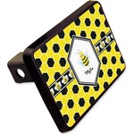 """Honeycomb Rectangular Trailer Hitch Cover - 2"""" (Personalized)"""