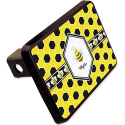 "Honeycomb Rectangular Trailer Hitch Cover - 2"" (Personalized)"