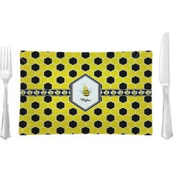 Honeycomb Rectangular Dinner Plate (Personalized)
