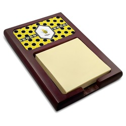Honeycomb Red Mahogany Sticky Note Holder (Personalized)