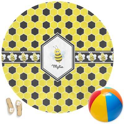 Honeycomb Round Beach Towel (Personalized)