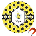Honeycomb Round Car Magnet (Personalized)