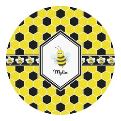 Honeycomb Round Decal - Small (Personalized)