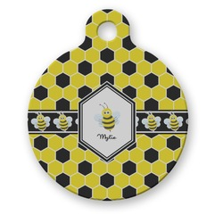 Honeycomb Round Pet ID Tag (Personalized)