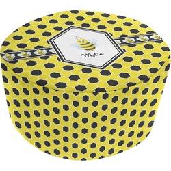Honeycomb Round Pouf Ottoman (Personalized)