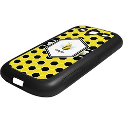 Honeycomb Rubber Samsung Galaxy 3 Phone Case (Personalized)