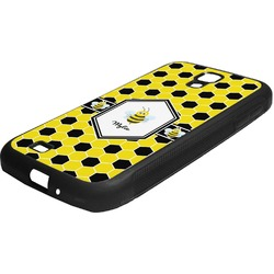 Honeycomb Rubber Samsung Galaxy 4 Phone Case (Personalized)
