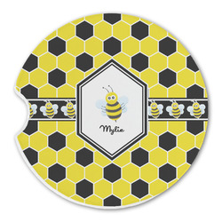 Honeycomb Sandstone Car Coasters (Personalized)