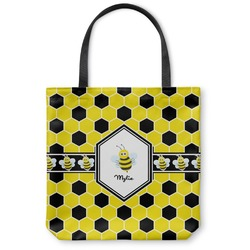 Honeycomb Canvas Tote Bag (Personalized)