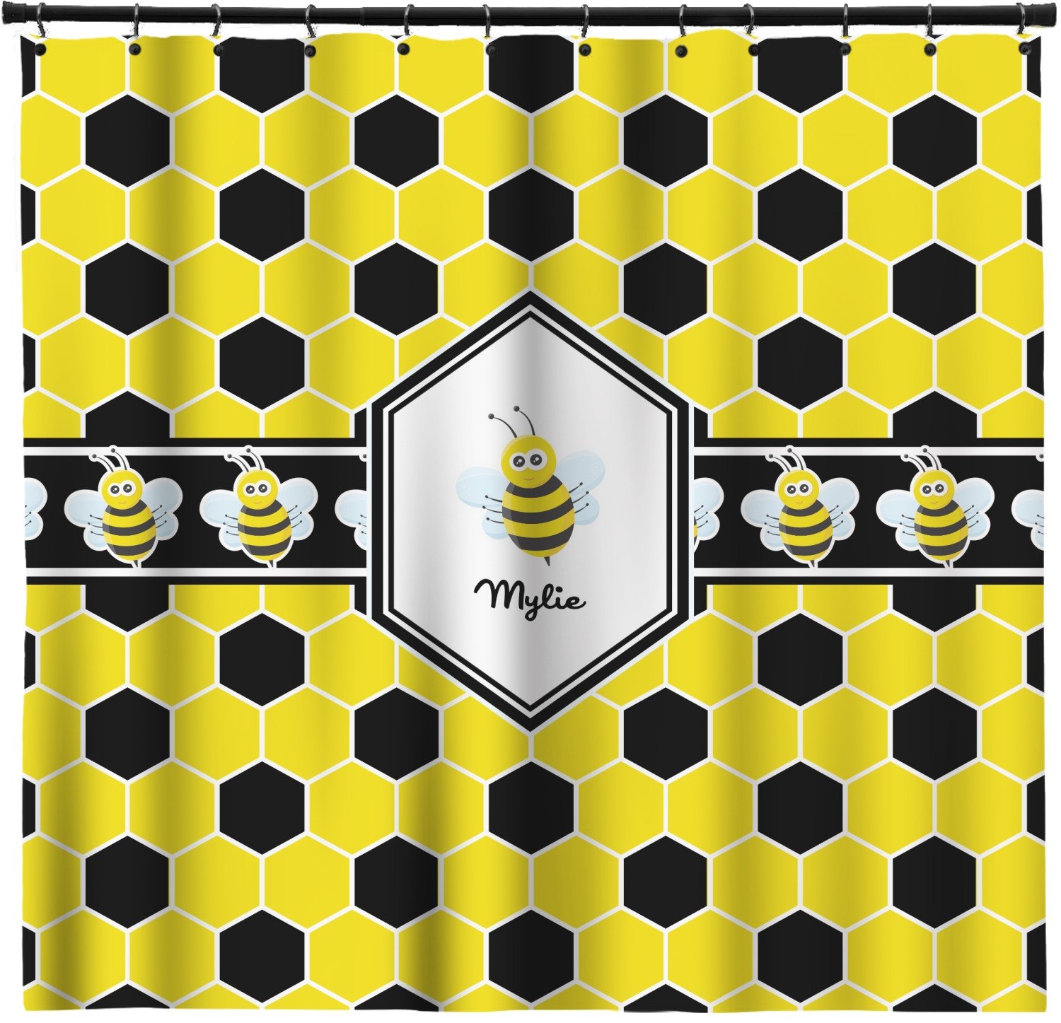 Honeycomb Shower Curtain (Personalized)