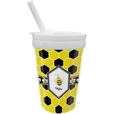 Honeycomb Sippy Cup with Straw (Personalized)