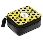 Honeycomb Small Leatherette Travel Pill Case (Personalized)