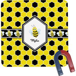 Honeycomb Square Fridge Magnet (Personalized)