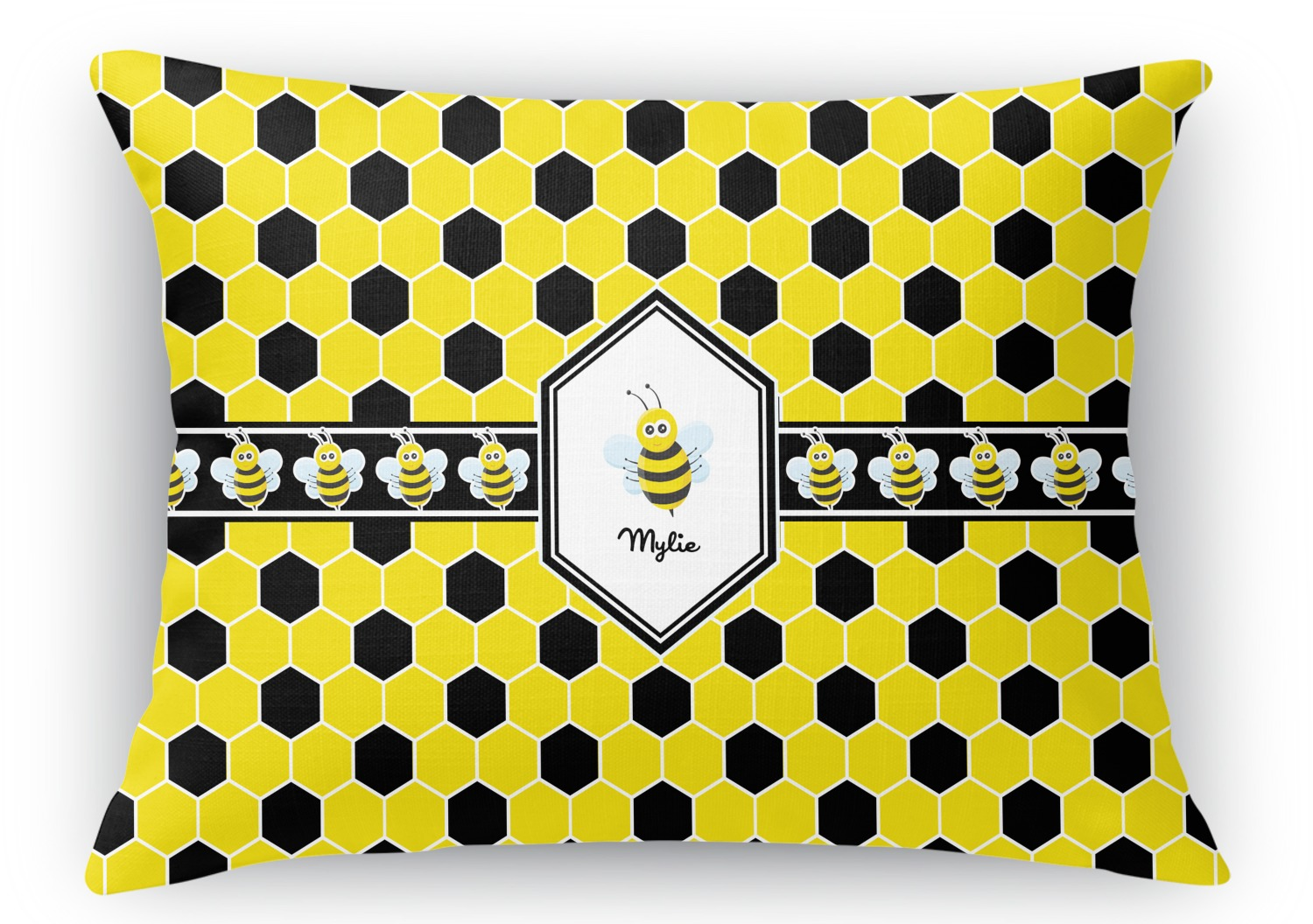 Rectangular Throw Pillow Dimensions : Honeycomb Rectangular Throw Pillow - 18