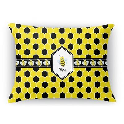 Honeycomb Rectangular Throw Pillow Case (Personalized)