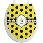 Honeycomb Toilet Seat Decal (Personalized)