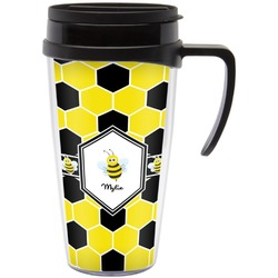 Honeycomb Travel Mug with Handle (Personalized)