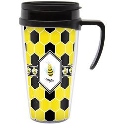 Honeycomb Travel Mug with Handle (Personalized)