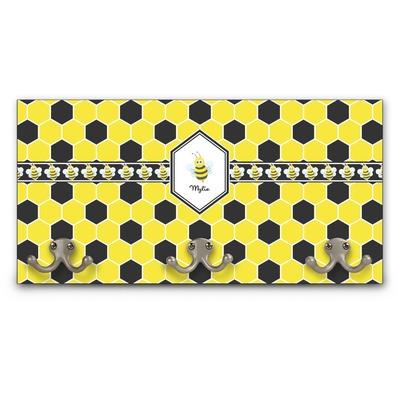 Honeycomb Wall Mounted Coat Rack (Personalized)