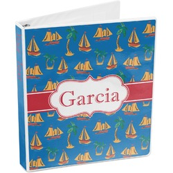 Boats & Palm Trees 3-Ring Binder (Personalized)