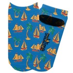 Boats & Palm Trees Adult Ankle Socks (Personalized)