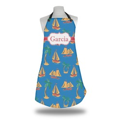 Boats & Palm Trees Apron (Personalized)