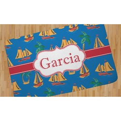 Boats & Palm Trees Area Rug (Personalized)