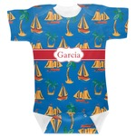 Boats & Palm Trees Baby Bodysuit (Personalized)