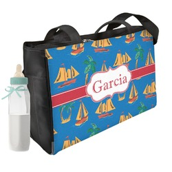 Boats & Palm Trees Diaper Bag (Personalized)